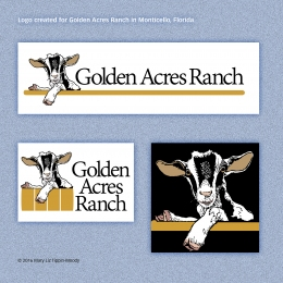 Logo for Golden Acres Ranch  © 2016 Mary Liz Tippin-Moody
