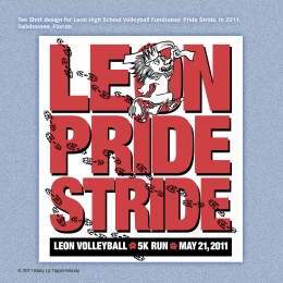 Tee Shirt Design for Leon Pride Stride © 2011 Mary Liz Tippin-Moody
