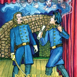 "Young reader's book cover for ""The Phantom Army"" by K.E.M. Johnston"