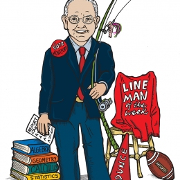 Caricature of Bill Montford for FPRA Roast and Toast, © 2007 Mary Liz Tippin-Moody